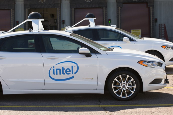Intel unveils its new fleet of self-driving cars