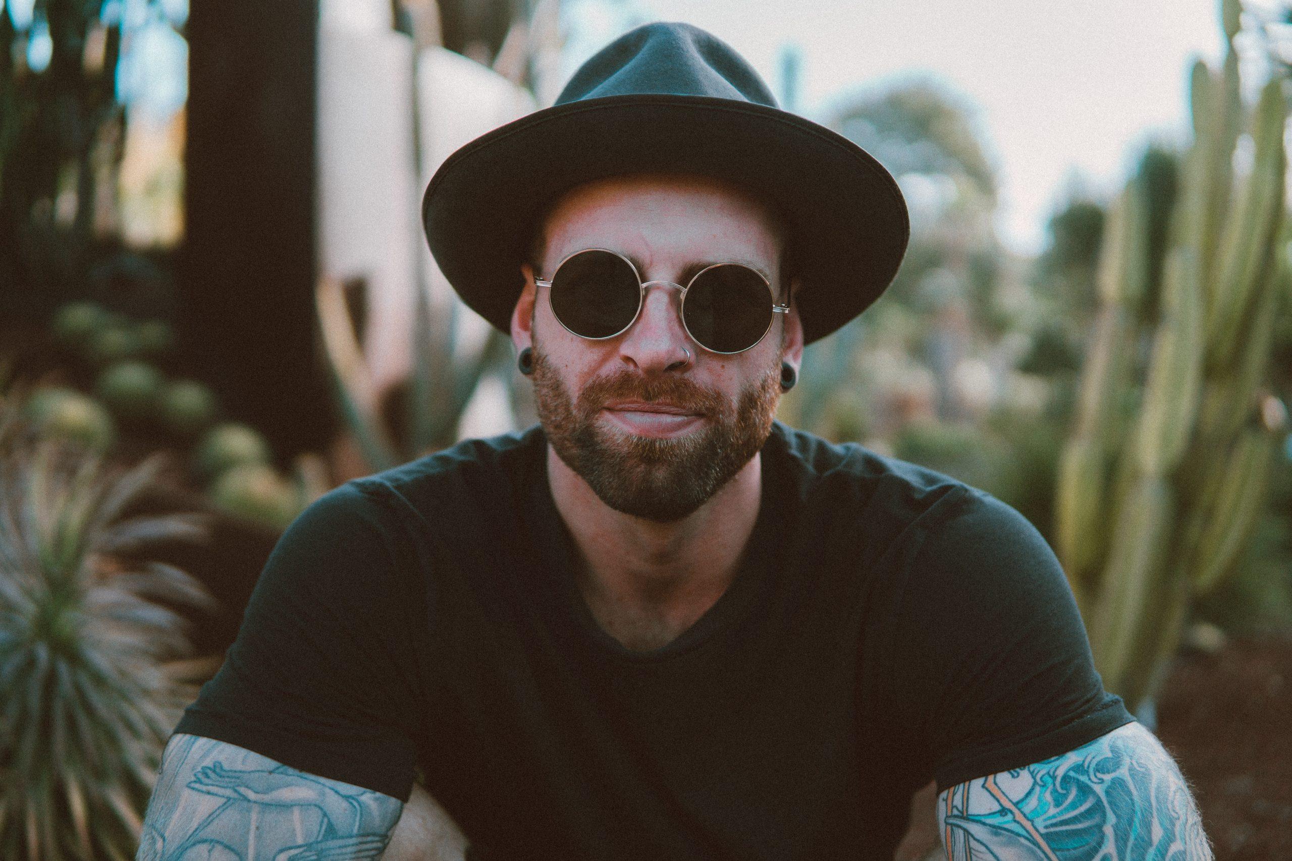 Photo of a man wearing sunglasses