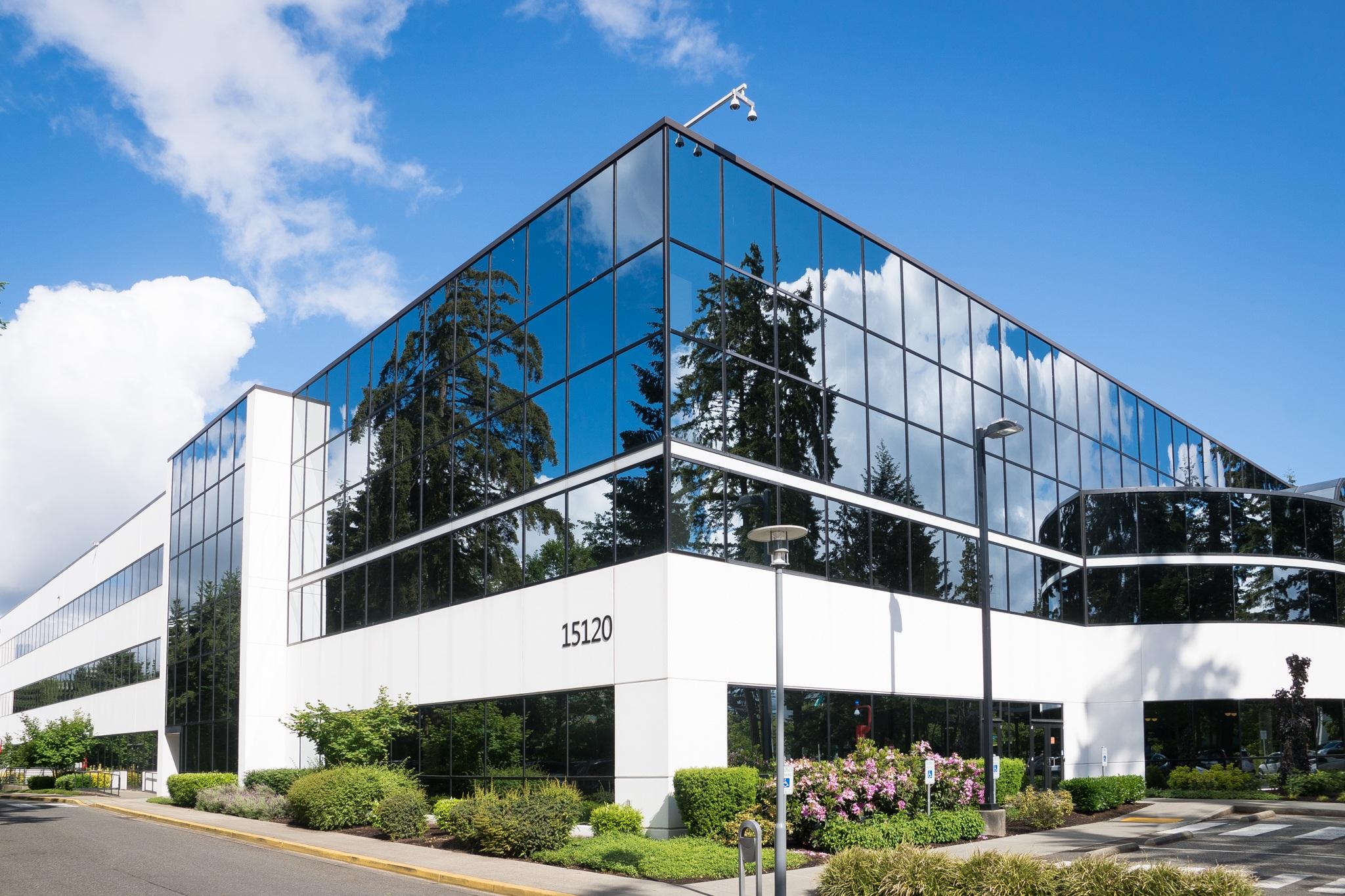 15120 architecture blue building