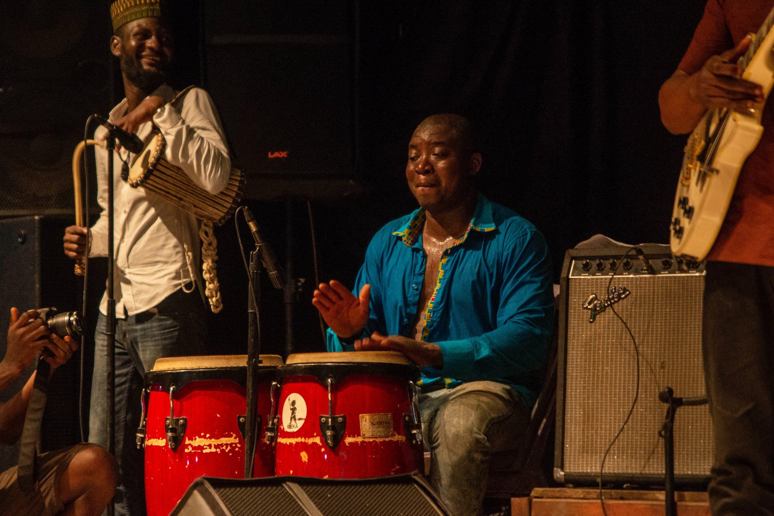 A drummer at a Lagos concert