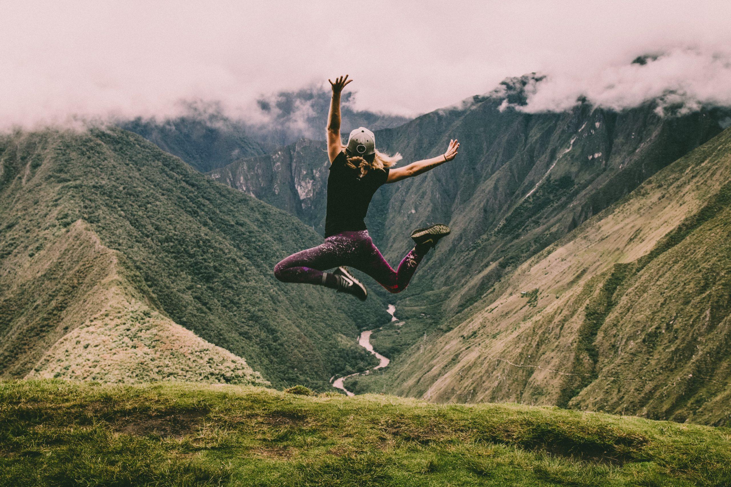 A fellow traveller had to have that classic jumping photo in this amazing place in the middle of the Andes.