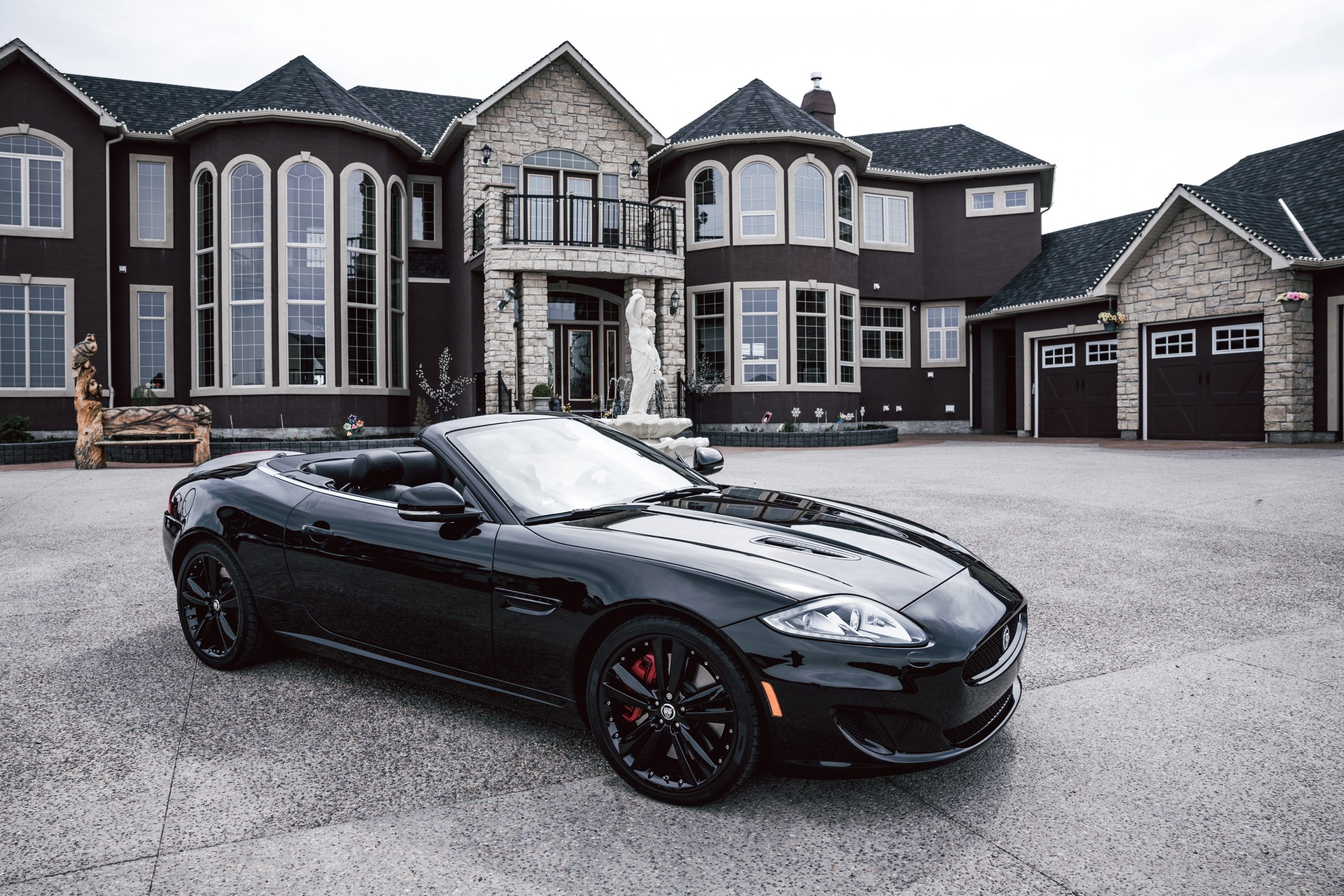 A quick snap on set with 14 year old rapper artist 'Swag Simer'. While taking some . behind the scenes photos, we decided to stop and snap a picture of this Maserati in front of a huge mansion in Calgary, Alberta, Canada. IG: @VisualsByRoyalZ