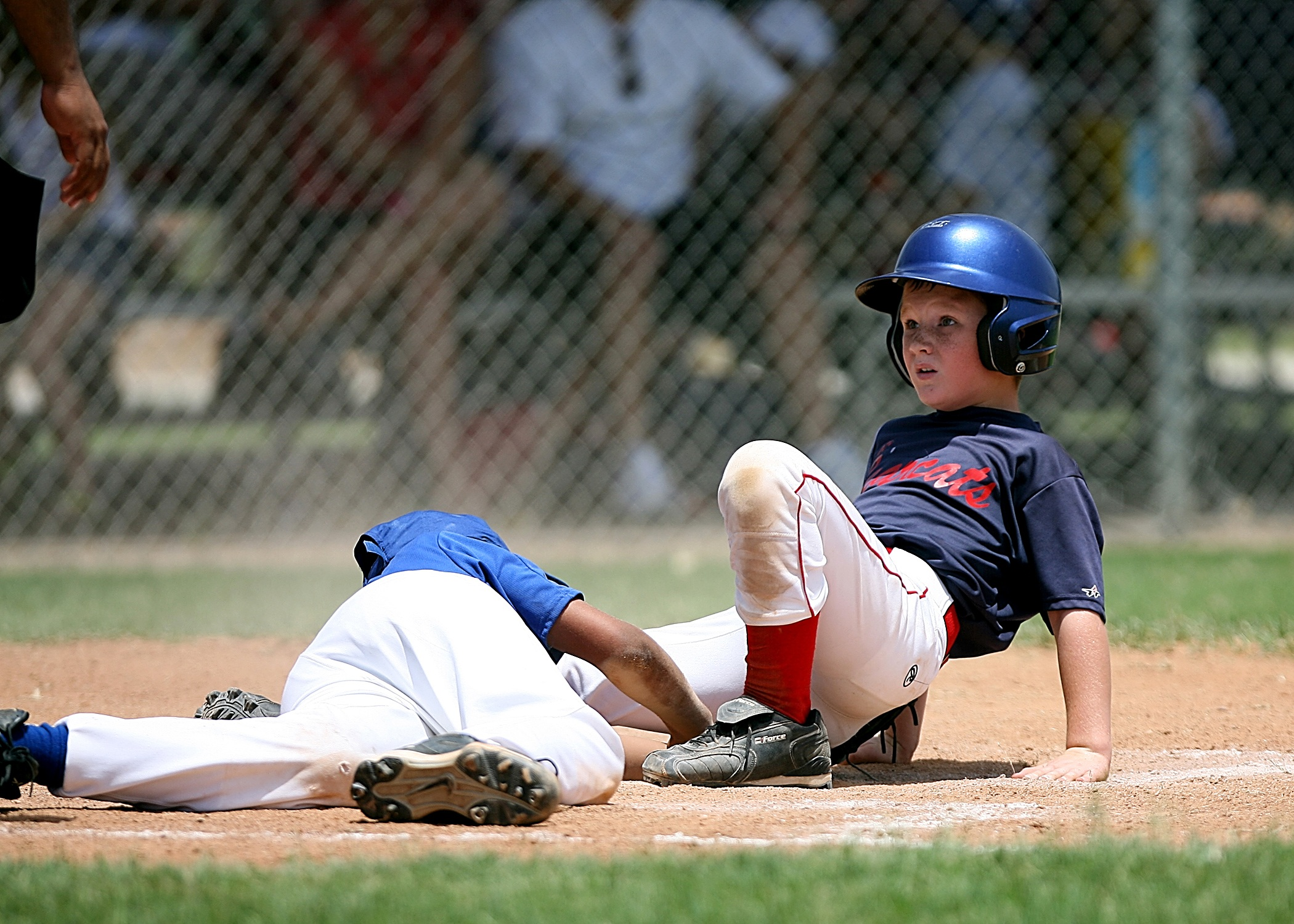 Action athletes audience barb wires