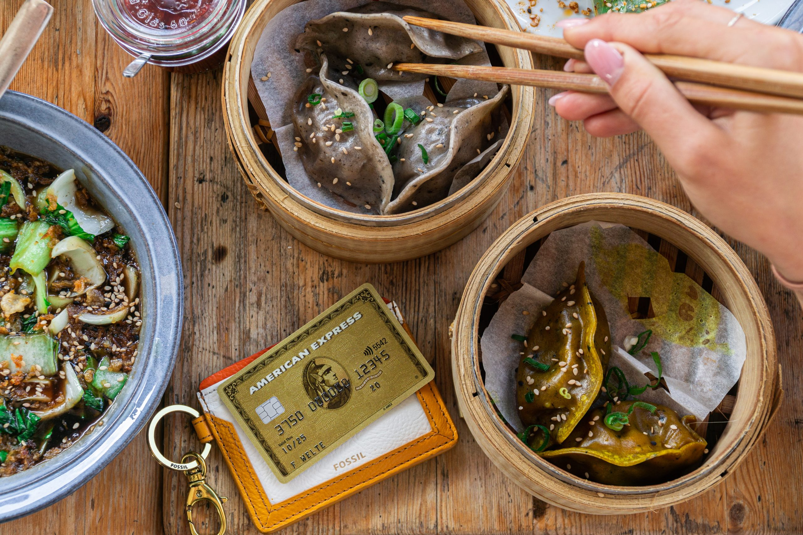 dim sums and amex credit card at Some Dim Sum