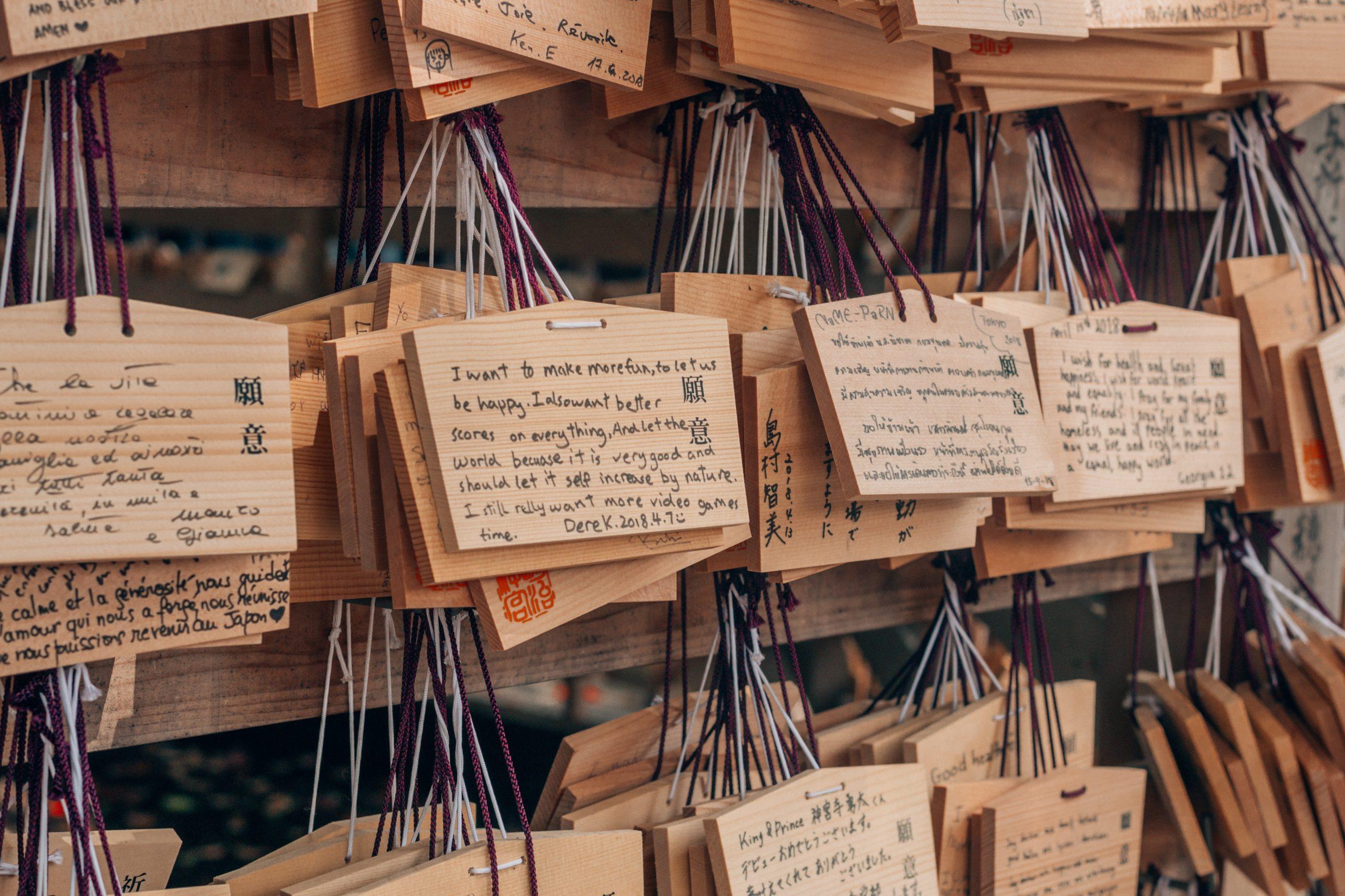 Lucky write - Senso ji Temple - Tokyo