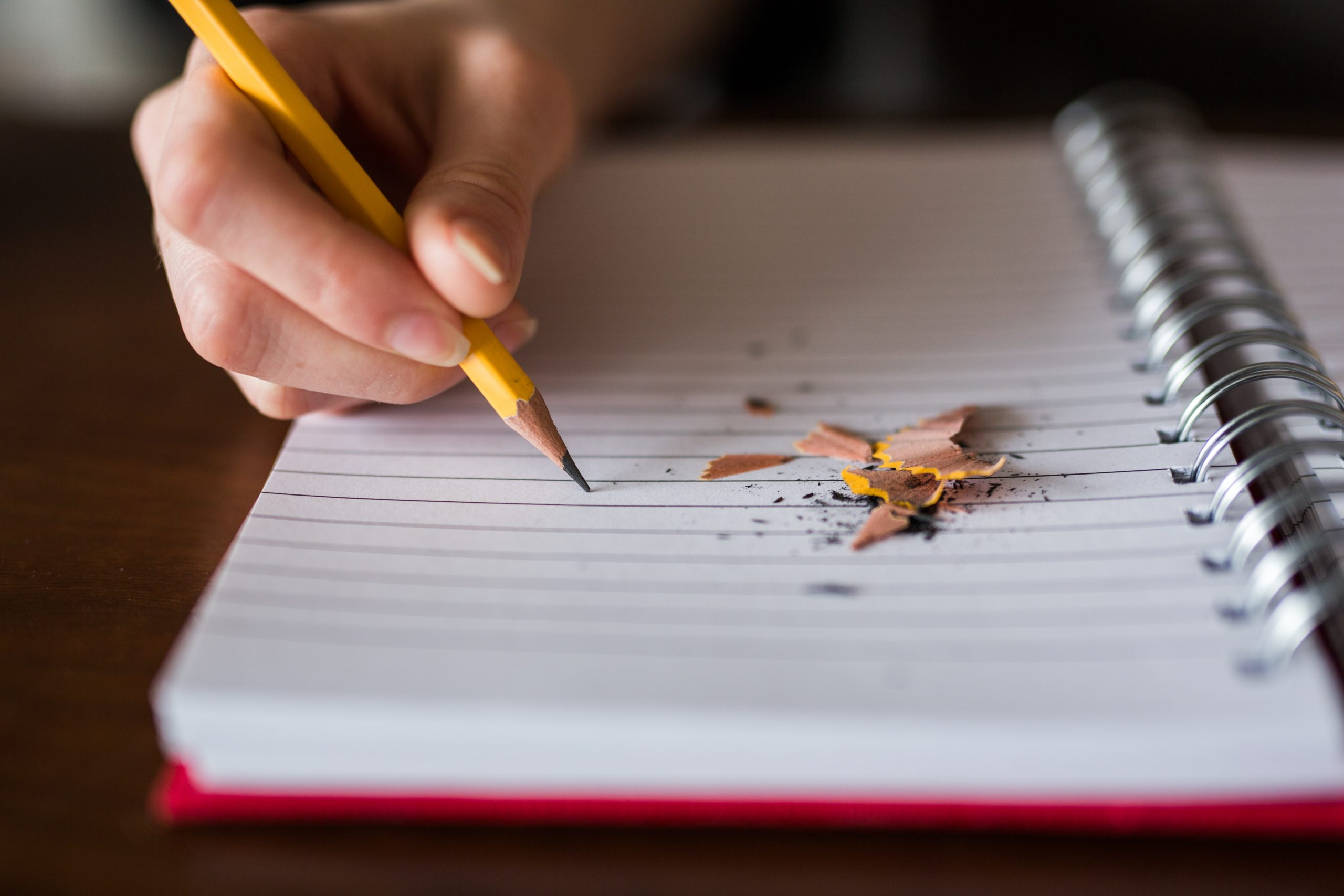 Taking notes with a pencil