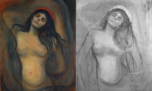 Infrared Scans Demonstrate Munch's Madonna's Approach